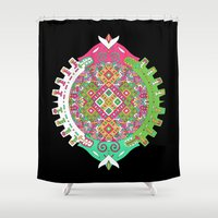 stargate Shower Curtains featuring Dimensional Tunnel by dAM 11