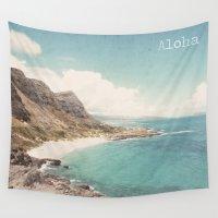 aloha Wall Tapestries featuring Aloha by Retro Love Photography