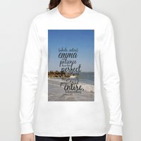 emma stone Long Sleeve T-shirts featuring Emma  by KimberosePhotography