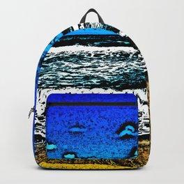 Ocean, Sky, Beach, and Sand Backpack