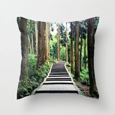Begins with a simple step Throw Pillow