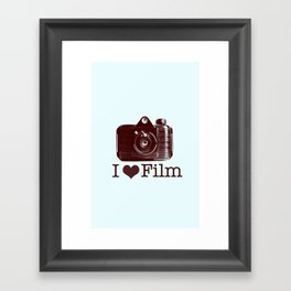 I ♥ Film (Maroon/Aqua) Framed Art Print