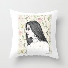 Cher/Pattern Throw Pillow