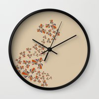 wind Wall Clocks featuring Wind by LindsayMichelle