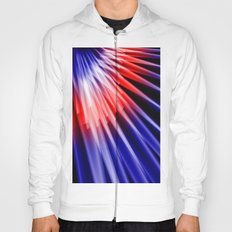 Red blue abstract Hoody
