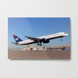 US Airways Boeing 757 Takeoff Metal Print