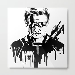 Avengers in Ink: Hawkeye Metal Print