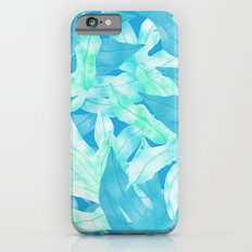 Blue Leaves Slim Case iPhone 6s