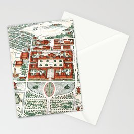 STANFORD CALIFORNIA University map Stationery Cards