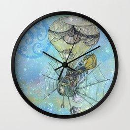 Steampunk Flying Machine Wall Clock