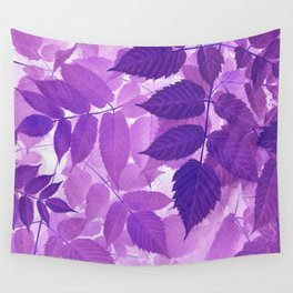 Ultra Violet Purple Leaves Wall Tapestry
