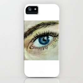 Eye (oil painting) iPhone Case