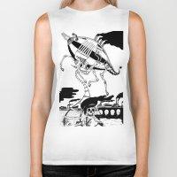 led zeppelin Biker Tanks featuring Zeppelin by Saskia Juliette