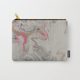 Pink and Gold Marble Print Carry-All Pouch