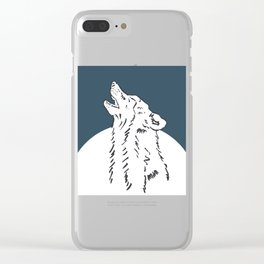 Pra Loup Howling Wolf Clear iPhone Case