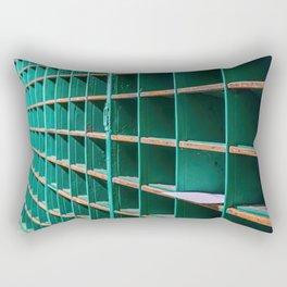 One Letter Left in Old Mail Rack Rectangular Pillow