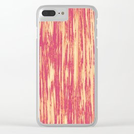 Ikat Streaks in Coral Clear iPhone Case