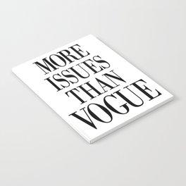 fashion quote, home decor Notebook