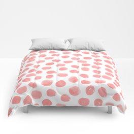 Natalia - abstract dot painting dots polka dot minimal modern gender neutral art decor Comforters