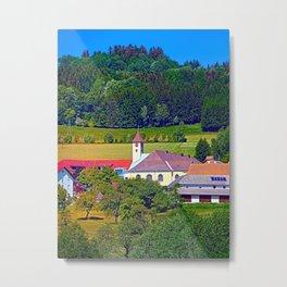 The village church of Eidenberg 2 Metal Print