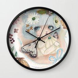 Pumpkin Blue Pixie Wall Clock