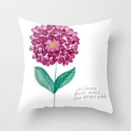 Perfectly Blooming Flower Throw Pillow