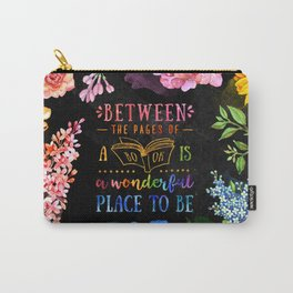 Between the pages - black Carry-All Pouch