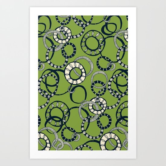 Honolulu hoopla green Art Print