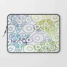 Beautiful Bluish Circles Laptop Sleeve