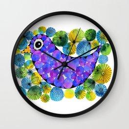 Circled Bird Wall Clock