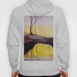 Mysterious forest, watercolor Hoody