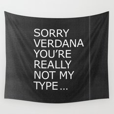 Sorry Verdana you're really not my type Wall Tapestry