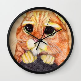 Puss In Boots. Wall Clock