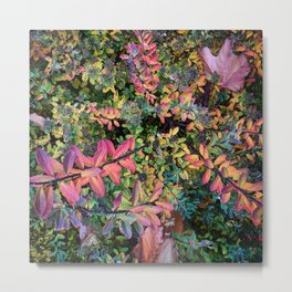 Psychedelic Autumn Plant Metal Print