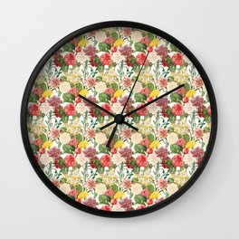 Vintage Floral Pattern | No. 1B Wall Clock