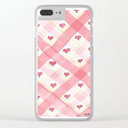 Love Wove Through Clear iPhone Case