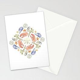 Tide Pool Beach Mandala 5 - Watercolor Stationery Cards