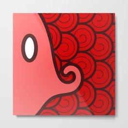 Niji Sakana (Red) Metal Print
