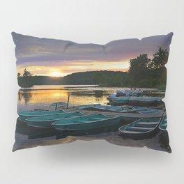 Stunning Lake Front Marina Sunset Pillow Sham
