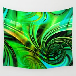 Curls Deluxe Green Wall Tapestry