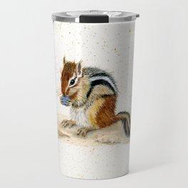"""Chippy"" Chipmunk - animal watercolor painting Travel Mug"