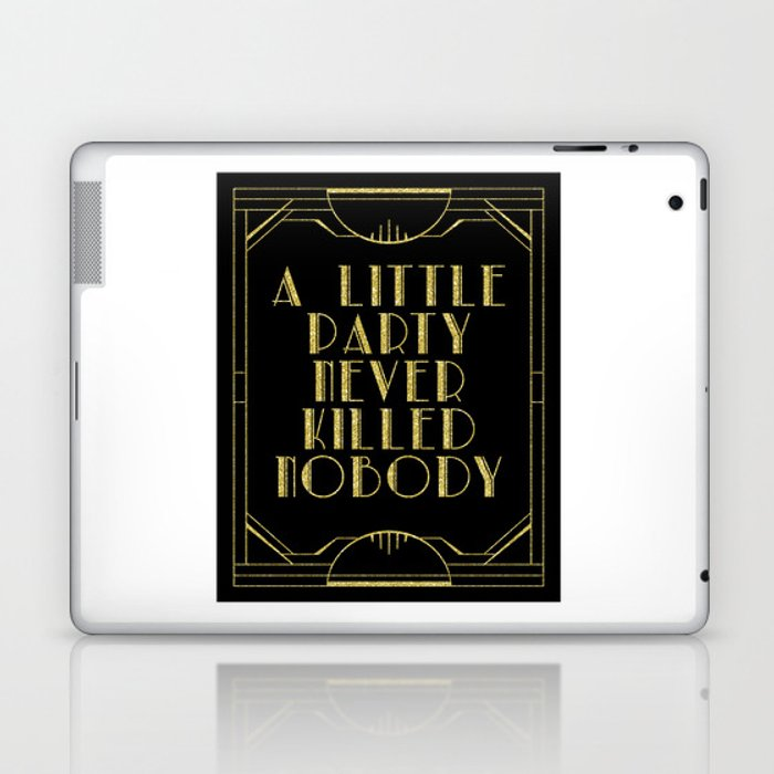 A little party - black glitz Laptop & iPad Skin