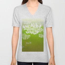 Health Transcends – Lime Unisex V-Neck