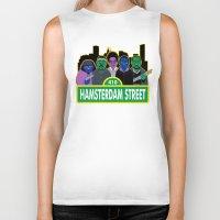 sesame street Biker Tanks featuring Hamsterdam Street by Grady