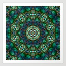Emerald Kaleidoscope Art Print
