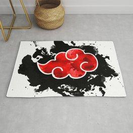 red cloud akatsuki watercolor  Rug