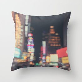 Times Square Abstract Throw Pillow