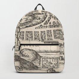 Vintage Map of Edinburgh Scotland (1581) Backpack
