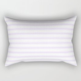 Chalky Pale Lilac Pastel and White Wide Mattress Ticking Stripes Rectangular Pillow