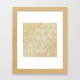 Billowing - Natural White Framed Art Print